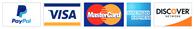 Credit Card Logos - Visa, Mastercard, American Express, Discover and Paypal